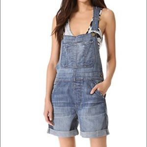 "CURRENT/ELLIOTT ""The Short"" Denim Overalls"
